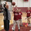 The Fitchburg High School and North Middlesex Regional High School Unified Basketball teams played each other in a game on Wednesday afternoon in the gym at FHS. FHS's Justin Gonsalez takes a shot during action in the game. SENTINEL & ENTERPRISE/JOHN LOVE