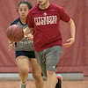 The Fitchburg High School and North Middlesex Regional High School Unified Basketball teams played each other in a game on Wednesday afternoon in the gym at FHS. FHS's Sam Ramos dribbles down court. SENTINEL & ENTERPRISE/JOHN LOVE