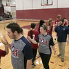 The Fitchburg High School and North Middlesex Regional High School Unified Basketball teams played each other in a game on Wednesday afternoon in the gym at FHS. Both teams congratulate each other at the end of the game. SENTINEL & ENTERPRISE/JOHN LOVE