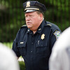 Members of the Fitchburg Jr. Police Academy received a visit from Chief Ernie Martineau on Wednesday morning during their week-long camp. SENTINEL & ENTERPRISE / Ashley Green