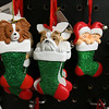 Ornament Central, a family-owned wholesaler for ornaments, recently donated 80,000 ornaments to the Fitchburg School. They have ornaments of many styles like this one, some dogs and a couple of babies in christmas stockings. SENTINEL & ENTERPRISE/JOHN LOVE