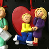 Ornament Central, a family-owned wholesaler for ornaments, recently donated 80,000 ornaments to the Fitchburg School. They have ornaments of many styles like this one, a couple in love. SENTINEL & ENTERPRISE/JOHN LOVE