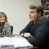 Ornament Central, a family-owned wholesaler for ornaments, recently donated 80,000 ornaments to the Fitchburg School. Mangers Kim Boumil and Rob Casey talk about the company in Fitchburg on Tuesday morning. SENTINEL & ENTERPRISE/JOHN LOVE