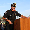 Lunenburg Police Chief Jim Marino addresses the crowd during the prayer vigil in support of Dallas, TX on Main Street in Fitchburg on Tuesday night. SENTINEL & ENTERPRISE/JOHN LOVE