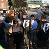 Many listen to the speakers at the prayer vigil on Main Street in Fitchburg on Tuesday afternoon in support of Dallas TX. SENTINEL & ENTERPRISE/JOHN LOVE