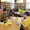 Every Wednesday the Fitchburg Public Library from 4 p.m. to 7:30 p.m. in the teen center at the library they hold a board game and card game teen hangout night With their new Teen Librarian Colin Welch. On Wednesday, March 20, 2019 the teens were playing Magic the card game. Starter packs for the new players were donated by That's Entertainment in Fitchburg. SENTINEL & ENTERPRISE/JOHN LOVE