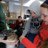 Animal Adventures, a family zoo and rescue center, from Bolton visited the Fitchburg Public Library on Thursday morning, December 28, 2018. The program was funded by the United Way's Strengthening Families grant. Drew Shaheen from the zoo holds an American alligator for the kids to see, learn about and pet. Autumn Tellier, 11, holds her brother Parker, 3, as they see how the alligator felt. SENTINEL & ENTERPRISE/JOHN LOVE
