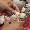 The Fitchburg Senior Center held  a class in seashell wreath making on Friday morning with artist Laura Darrow from Sterling.. SENTINEL & ENTERPRISE/JOHN LOVE