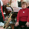 "The talent of jazz virtuoso, Clyde Wheatley entertained the crowd at the Fitchburg Senior Center's ""Be My Valentine"" on Wednesday morning for some romance, love and all the classics. He played the clarinet, the alto saxophone and the soprano saxophone for the crowd. There was a lunch from The Finicky Fork sponsored by Fitchburg Senior Center after the entertainment. Kathy Reardon from Fitchburg enjoys the music. SENTINEL & ENTERPRISE/JOHN LOVE"