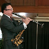 "The talent of jazz virtuoso, Clyde Wheatley from Holden entertained the crowd at the Fitchburg Senior Center's ""Be My Valentine"" on Wednesday morning for some romance, love and all the classics. He played the clarinet, the alto saxophone and the soprano saxophone for the crowd. There was a lunch from The Finicky Fork sponsored by Fitchburg Senior Center after the entertainment. Here Wheatley plays the alto saxophone and the clarinet for the song ""Mack the Knife"" by Bobby Darin. SENTINEL & ENTERPRISE/JOHN LOVE"