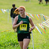Fitchburg State's Shawna Ryan competes in the Jim Sheehan Memorial Invite at the Doyle Conservation Center in Leominster on Saturday morning. SENTINEL & ENTERPRISE / Ashley Green
