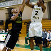 Fitchburg State's Jaleel Bell in action against Southern Vermont on Saturday afternoon. SENTINEL & ENTERPRISE / Ashley Green