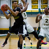 Fitchburg State's Jalen Williams in action against Southern Vermont on Saturday afternoon. SENTINEL & ENTERPRISE / Ashley Green