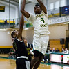 Fitchburg State's Chima Ebele in action against Southern Vermont on Saturday afternoon. SENTINEL & ENTERPRISE / Ashley Green