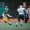 Fitchburg State's Dakota Mullen runs the ball during the game against Mass Maritime on Saturday afternoon. SENTINEL & ENTERPRISE / Ashley Green