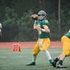 Fitchburg State's James Antonelli gets rid of the ball during the game against Mass Maritime on Saturday afternoon. SENTINEL & ENTERPRISE / Ashley Green