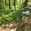 Ralph Baker talks about the trails in Fitchburg goes on a trail hike back in May.  SENTINEL & ENTERPRISE/JOHN LOVE