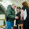 Vietnam Veteran Kenneth Denis is presented with a pin and certificate during Fitchburg's Veterans Day ceremony on Friday morning at the Senior Center. SENTINEL & ENTERPRISE / Ashley Green