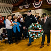 Memorial wreaths are laid during Fitchburg's Veterans Day ceremony on Friday morning at the Senior Center. SENTINEL & ENTERPRISE / Ashley Green