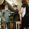 Vietnam Veteran Albert Lagace is presented with a pin and certificate during Fitchburg's Veterans Day ceremony on Friday morning at the Senior Center. SENTINEL & ENTERPRISE / Ashley Green