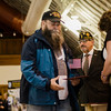 Vietnam Veteran Peter Holder is presented with a pin and certificate during Fitchburg's Veterans Day ceremony on Friday morning at the Senior Center. SENTINEL & ENTERPRISE / Ashley Green