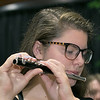 The City of Fitchburg held a Veterans Day ceremony at the Fitchburg Senior Center on Monday, Nov. 11, 2019. Playing the piccolo with the Fitchburg High School Band is Jacklyn Brouillet. SENTINEL & ENTERPRISE/JOHN LOVE