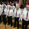 The City of Fitchburg held a Veterans Day ceremony at the Fitchburg Senior Center on Monday, Nov. 11, 2019. Entertaining the crowd at the program is the International Veteran's Chorus. SENTINEL & ENTERPRISE/JOHN LOVE
