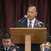 The City of Fitchburg held a Veterans Day ceremony at the Fitchburg Senior Center on Monday, Nov. 11, 2019. Addresses the crowd at the program is State Senator Dean Tran. SENTINEL & ENTERPRISE/JOHN LOVE