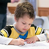 Coloring Saturday, Feb. 1, 2020 at Winterfest held at Coggshall Park in Fitchburg is Dante Spenc Jr., 5, from Fitchburg. SENTINEL & ENTERPRISE/JOHN LOVE