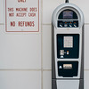 A parking meter, which accepts credit only, on Main Street in Fitchburg. SENTINEL & ENTERPRISE / Ashley Green