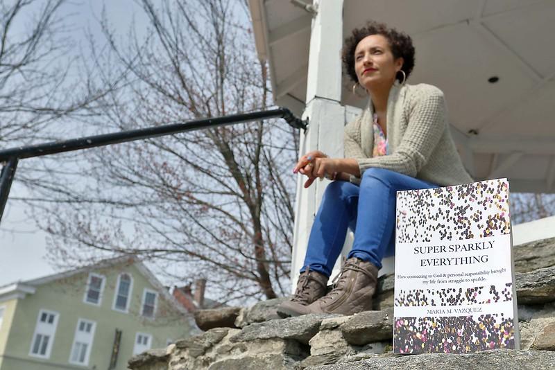 "Maria Vazquez the author of the book ""Super Sparkly Everything."" SENTINEL & ENTERPRISE/JOHN LOVE"