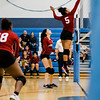 Fitchburg's Diandra Boddie in action during the rivalry match against Leominster on Friday, October 13, 2017. SENTINEL & ENTERPRISE / Ashley Green