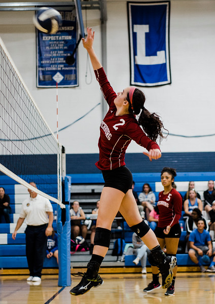 Fitchburg's Caitie Mayo in action during the rivalry match against Leominster on Friday, October 13, 2017. SENTINEL & ENTERPRISE / Ashley Green