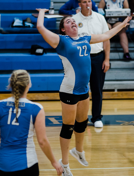Leominster's Chloe Vella in action during the rivalry match against Fitchburg on Friday, October 13, 2017. SENTINEL & ENTERPRISE / Ashley Green