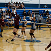 Fitchburg and Leominster Girls Volleyball faced off on Friday, October 13, 2017. SENTINEL & ENTERPRISE / Ashley Green