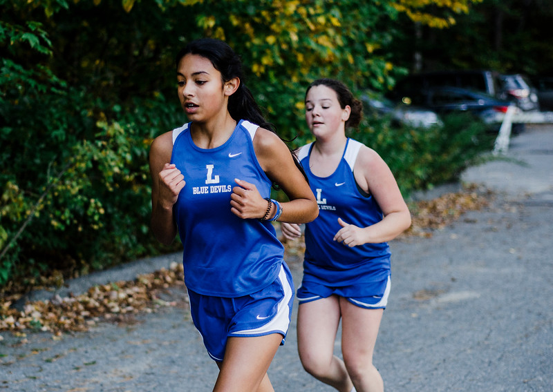 The Fitchburg and Leominster cross country teams compete at Coggshall Park in Fitchburg on Tuesday, October 17, 2017. SENTINEL & ENTERPRISE / Ashley Green