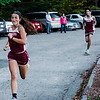 Fitchburg's Kam Pelland approaches with a third place finish during the cross country meet against Leominster at Coggshall Park in Fitchburg on Tuesday, October 17, 2017. SENTINEL & ENTERPRISE / Ashley Green