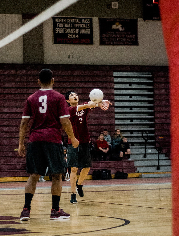 . Fitchburg\'s Ky;e Thipphavong in action against Monty Tech on Tuesday, April 4, 2017. SENTINEL & ENTERPRISE / Ashley Green