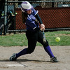Monty Tech's Kiera McNamara connects with a pitch during the game against Fitchburg High on Wednesday, April 19, 2017. SENTINEL & ENTERPRISE / Ashley Green