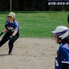 Monty Tech's Kyra Tammaro grabs a lead off second base during the game against Fitchburg High on Wednesday, April 19, 2017. SENTINEL & ENTERPRISE / Ashley Green