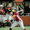 Fitchburg's Alydia Le lets a high pitch pass by during the game against Monty Tech on Wednesday, April 19, 2017. SENTINEL & ENTERPRISE / Ashley Green