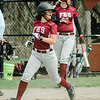 Fitchburg's Alydia Le scores a run during the game against Monty Tech on Wednesday, April 19, 2017. SENTINEL & ENTERPRISE / Ashley Green
