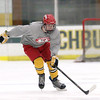 Fitchburg/ Monty Tech High School Hockey player freshman Cam Calocci heads down the ice during a drill at practice on Tuesday at the Wallace Civic Center. SENTINEL & ENTERPRISE/JOHN LOVE
