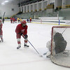Fitchburg/ Monty Tech High School Hockey players run through a drill at practice on Tuesday at the Wallace Civic Center. SENTINEL & ENTERPRISE/JOHN LOVE
