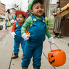 Sebastian Outerail and Emanuel Melendez as Mario and Luigi during trick-or-treating in downtown Fitchburg on Saturday afternoon. SENTINEL & ENTERPRISE / Ashley Green