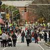 Families packed Main Street during the 8th annual trick-or-treating in downtown Fitchburg on Saturday afternoon. SENTINEL & ENTERPRISE / Ashley Green