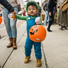 Emanuel Melendez, 2, does his best Luigi during trick-or-treating in downtown Fitchburg on Saturday afternoon. SENTINEL & ENTERPRISE / Ashley Green