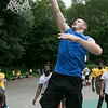 The second annual Sunny Side Foundation's Summer Throwdown three on three basketball tournament was held on Saturday, July 20, 2019 at Lowe Park in Fitchburg. Player Craig Donovan, 20, of Boston takes some practice shots to get ready for the tournament. SENTINEL & ENTERPRISE/JOHN LOVE