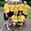 The second annual Sunny Side Foundation's Summer Throwdown three on three basketball tournament was held on Saturday, July 20, 2019 at Lowe Park in Fitchburg. These players from Framingham State where ready for the tournament. SENTINEL & ENTERPRISE/JOHN LOVE