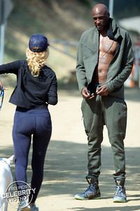 Shirtless Lamar Odom Hits Up Runyon Canyon in Kobe Bryant Nikes, CA